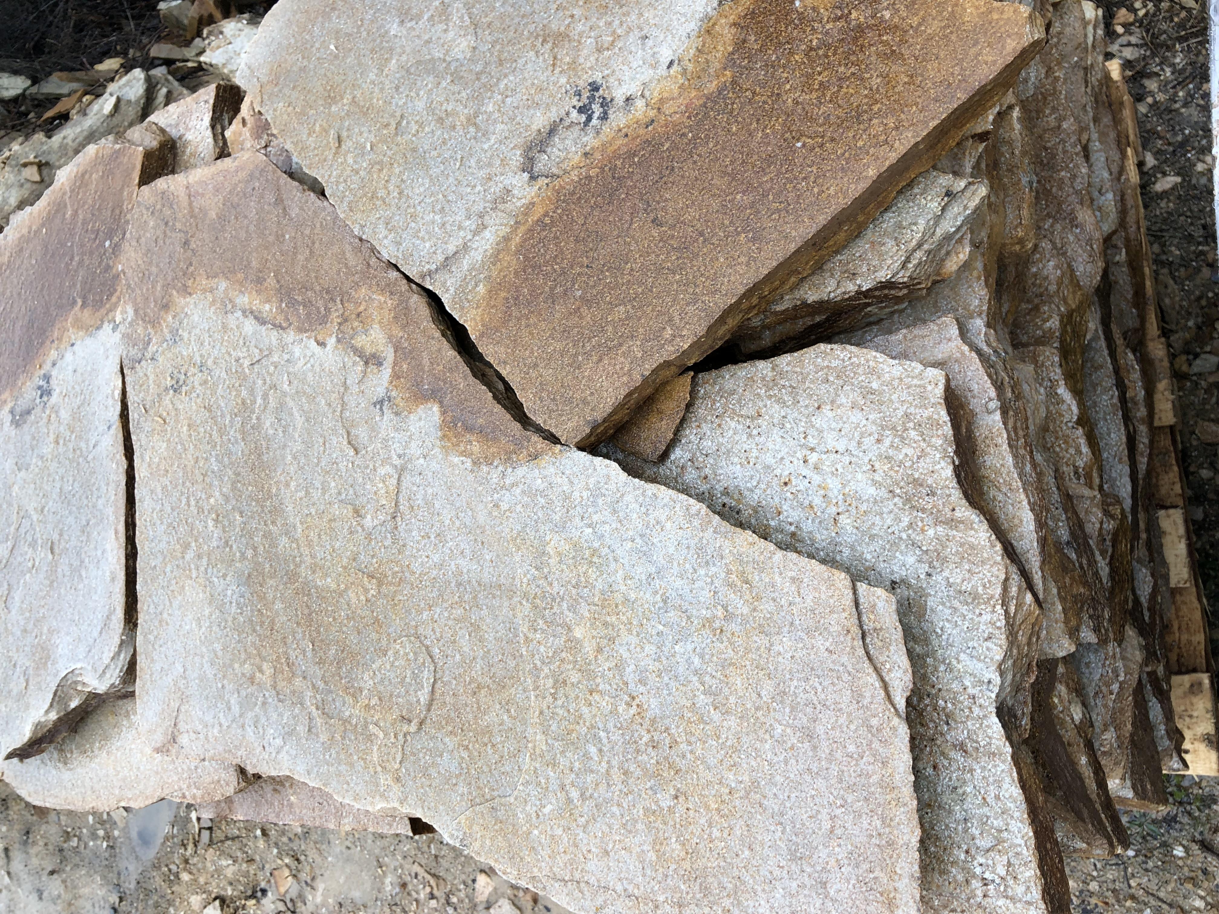 Настилка Неоформена Жълт - естествен камък Гнайс